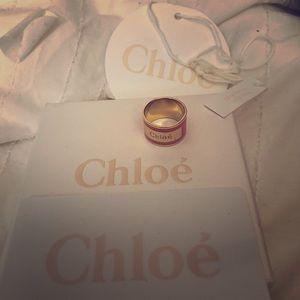 Chloe ring orange fizz 31G sz 52 authentic